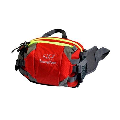 LF&F Backpack Camping outdoor Zaini Borse Tasche all'aperto per l'arrampicata borse a tracolla uomini e donne universali tasche portatili multifunzionali equitazione campeggio zaino da viaggio per il  red