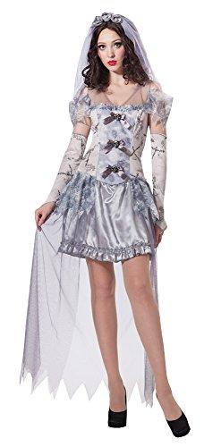 Bristol novelty ac123 costume da sposa fantasma