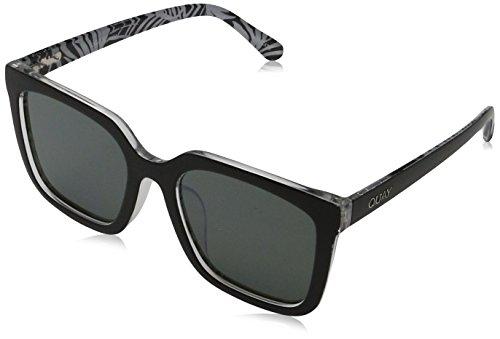 Quay Eyewear Unisex-Erwachsene Sonnenbrille Genesis, Black/Smoke, 150