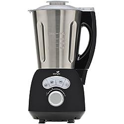 Senya Blender Chauffant Inox Cook & Ice, Mixeur Soupe Veloutée / Moulinée, Cuisson Vapeur, Glace Pilée Smoothies Milkshakes, 1, 5L