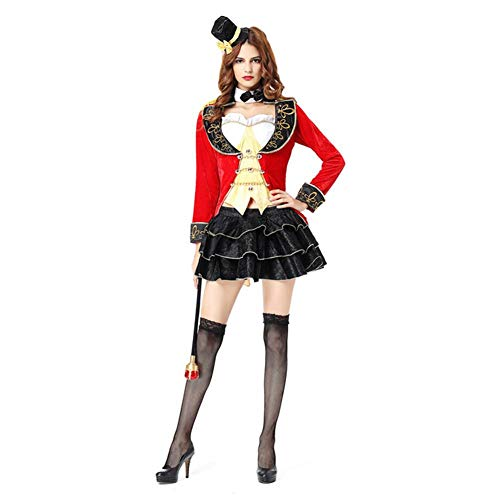 GUAN Halloween Zaubererin Kostüm Zirkus Earl Smoking Paar Cosplay Kostüm