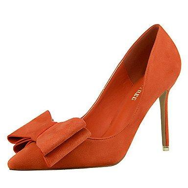 Moda Donna Sandali Sexy donna caduta tacchi Comfort Felpa casual Stiletto Heel Bowknot Nero / Giallo / rosa / rosso / grigio / arancio altri Yellow