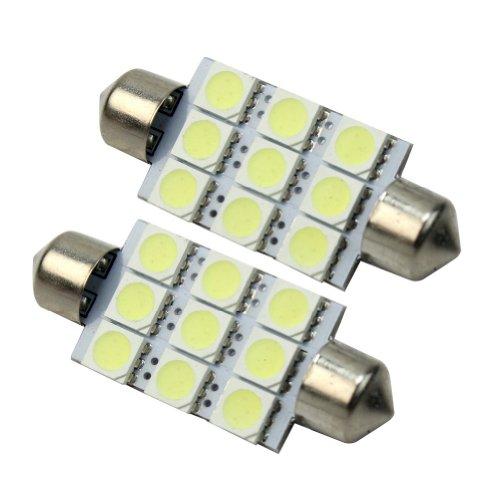 RHX Auto-Innenbeleuchtung 211 578 212-2 6413 6429, 3 Chips, 9 SMD LED, 42 mm, Weiß, 2 Stück