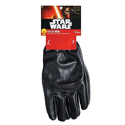 Star Wars 7 Kylo Ren Handschuhe Kinder Kostüm Zubehör schwarz (Leia Organa Kostüm)