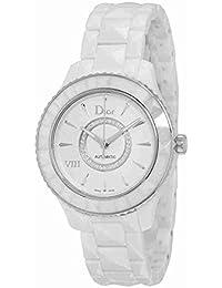 Christian Dior Femme 38mm Bracelet   Boitier Céramique Blanc Automatique  Cadran Argent Montre CD1245E3C002 69e9e0e31f3