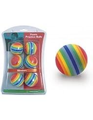 Masters Golf Rainbow Foam Practice Balls * Pack of 6 *