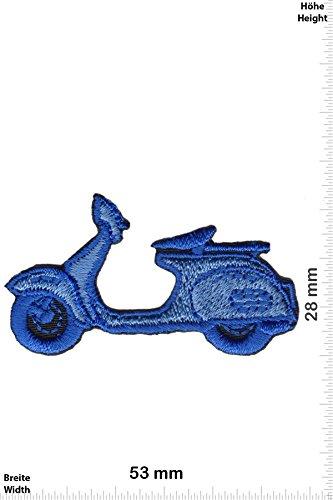 Patch - Vespa - Roller - small - blau - Motorrad - Motorrad - Vespa - Aufnäher - zum aufbügeln - Iron On Roller-patch