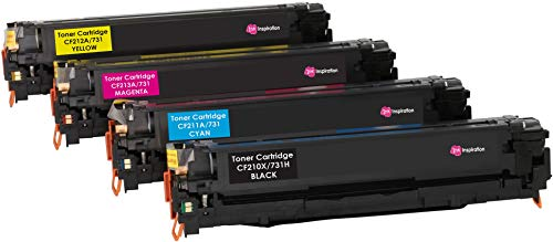 INK INSPIRATION 131X 131A CRG-731 Pack de 4 Cartuchos de tóner láser compatibles para HP LaserJet Pro 200 Color M251n, M251nw, MFP M276n, MFP M276nw, Canon LBP-7100CN, LBP-7110CW, MF-8230CN, MF-8280CW