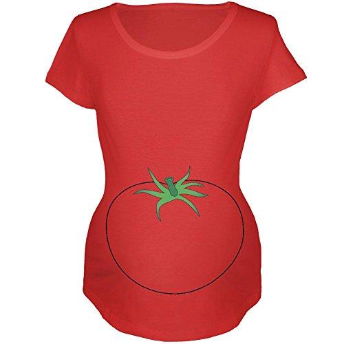 Old Glory Halloween Obst Gemüse Tomate Kostüm Mutterschaft Weichen T Shirt Rot 2XL (Halloween-kostüm-mutterschafts-t-shirt)