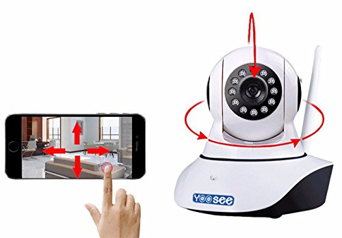 Yoosee Brand...Home IP Camera Long Range (UPDATED VERSION) Wireless (2, Dual antenna) WiFi IP Smart Onvif Camera wifi p2p MINI Wireless IP CCTV Surveillance Camera Wifi 720P Night Vision Dual Antenna Support Motion Alert for home camera security system, Office Monitor kids and parents safety