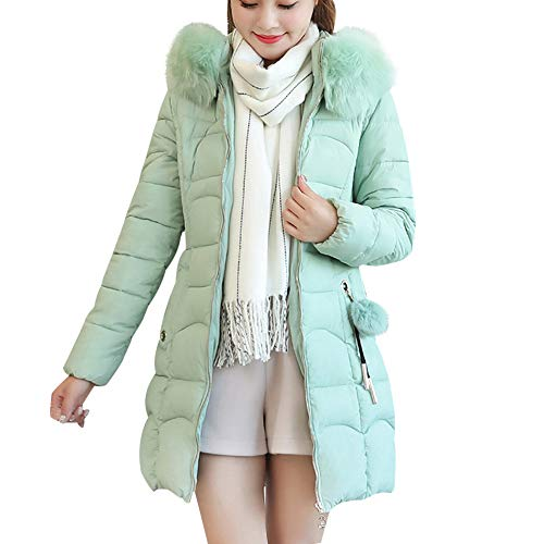 Hniunew Daunenjacke Warm Halten KunstpelzmüTze Pullover Mantel Jacke Damen Oberbekleidung Dickes Fell Baumwolle Parka Outwear Kleid Pumps Strickjacke Cardigan Winterjacke Wintermantel -