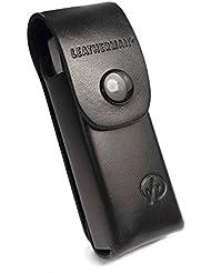 Leatherman Personnalisé (Par exemple un nom ou une inscription de votre choix) pour le LT100 - cuir noir véritable