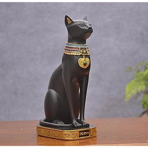 Antiguo egipcio dios de la del Nilo la Reina gato ornamentos creativo artes de estilo europeo hogar decoración boda habitación hogar vida sitio