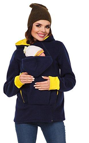 Zeta Ville - Felpa per maternità del portare bambino - cappuccio - donna - 032c Marina