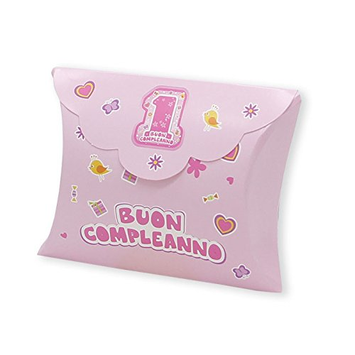 Big party scatoline bustina 1 anno one pink rosa 81610 25 pz.