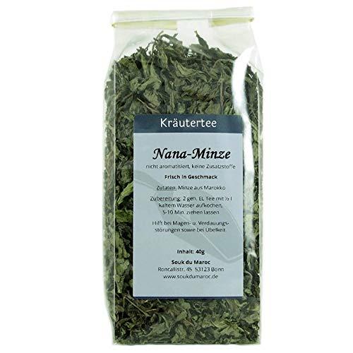 Kräutertee Kräuter Tee Nana-Minze Mischung aus Marokko ✔ reiner Natur-Minztee Tea Chay Chai lose ✔ Teemischung ✔ ohne Zusatzstoffe, Aromastoffe & Konservierungsstoffe, 250g (Tee Arabische Minze)