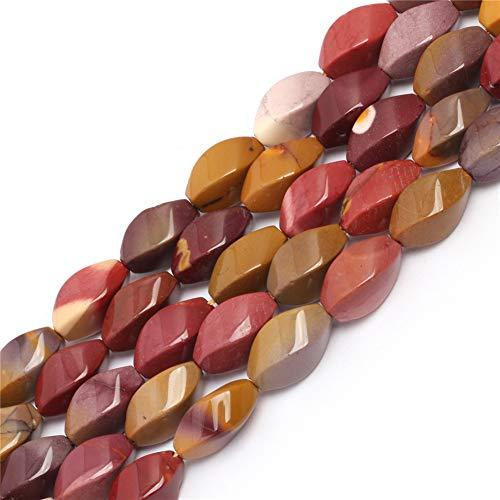 store 8x16mm Twist Gemstone Mookait Jasper Perlen Strang 15 Zoll Schmuckherstellung Perlen ()
