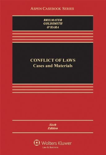 Conflict of Laws: Cases and Materials (Aspen Casebook Series) by R. Lea Brilmayer (2011-07-18)