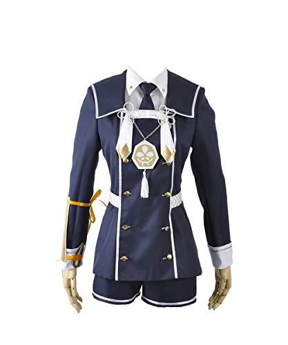Touken Ranbu gokotai battlefram E Uniform copslay Kostüm, Collegejacke, Blau (Gokotai Kostüm)