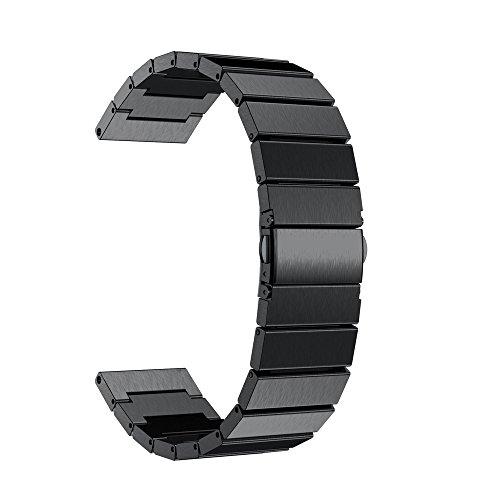 Beisoug NEUER Edelstahl-Uhrenarmband für Garmin Fenix 5 GPS