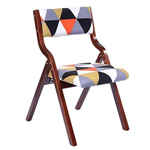 Sgabello moderno e minimalista pieghevole sedia da pranzo in legno massello sgabello multifunzionale sgabello da tavola casa weiyv (colore : brown-redtriangle, dimensioni : 48.5 * 46 * 78.5cm)