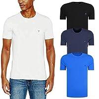 GUESS Slim Fit T-Shirts for Men, S - Multicolour