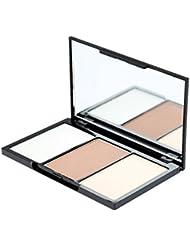 Music Flower M1059-Paleta de Polvo Compacto para Maquillaje de Contorno Facial,3 Colores