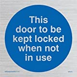 Viking Schilder ma219-s20-svDiese Tür aufbewahrt werden Gesperrt, wenn nicht in Gebrauch zu Sign, silber Vinyl, 200mm x 200mm x 200mm