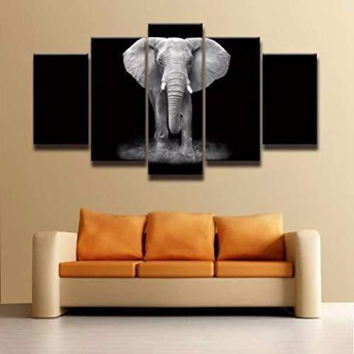 Moderno lienzo decoración para el hogar para sala de estar, 5 piezas,...