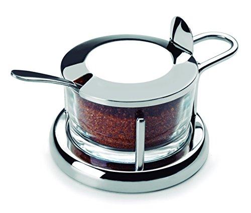 Lacor 62970 pot à sucre ou parmesan avec cuillère Inox 18 / 10 cm