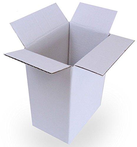 Weiße Versandboxen, 15 cm x 20 cm x 26 cm zur Aufbewahrung, für die Post für:Kuchen, Party-Geschenk, Kaffee-Set, Tee-/Porzellan-Set, Verpackung (9).