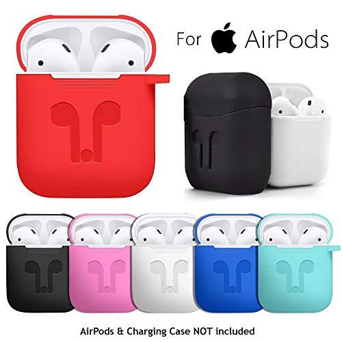AirPods Kopfhörer Silikon Ladebox mit Flexibles Wraparound-Design,Bunter Schutz Hülle Kopfhörer mit Ultra Lightweight Kopfhörer-Box Schutzhülle Kopfhörer (Hot Pink) ()