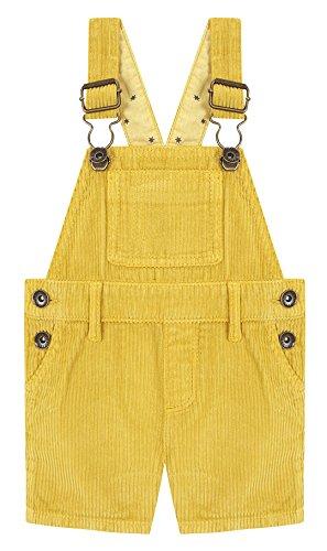 Gocco Baby-Mädchen Latzhose Peto Corto Amarillo, Gelb (Goldgelb), 86 cm