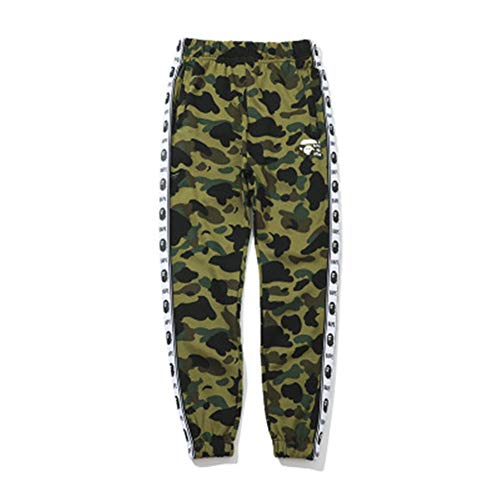 1fe3ac23c1bd AAPE Pants Camouflage Side Ape Head Men Women Sports Leisure Camouflage  Webbing Trousers