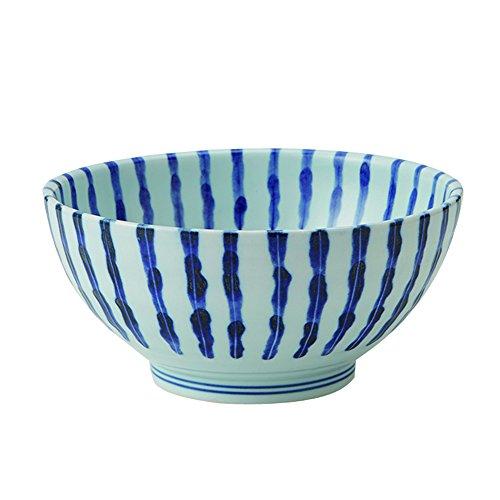 Zen Table Japan Große 1014 oz Ramen-Nudel, Udon, Pasta, Suppe, Don-Ofki, Schale/Servierschale japanisches einfaches Arabesque/Streifen-Muster (Damitokusa), hergestellt in Japan - Japan-muster