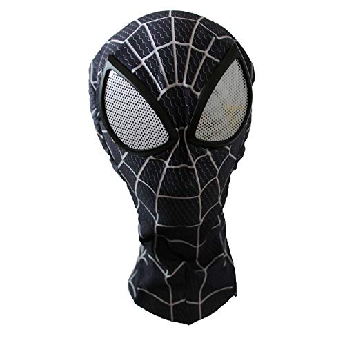 The Crazy Ones Spider-Man Venom Maske mit Gläsern für Erwachsene, Schwarz