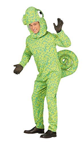 Guirca-Kostüm Erwachsene Chamäleon, Größe 48-50(88268.0) (Für Eidechse-kostüm Erwachsene)