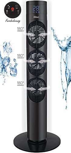 Turmventilator | 3 Stufen | 3 Modi | 12h Timer | LED-Display | Fernbedienung | Tower-Ventilator | Standventilator | Säulenventilator | Luftkühler | Fan