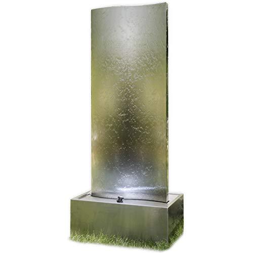 Köhko® Wasserwand Libro XL mit LED-Beleuchtung Höhe ca. 182 cm Springbrunnen mit Edelstahlbecken 23007