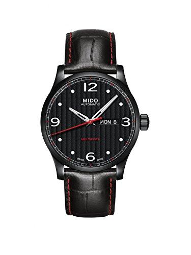 Mido Herren Analog Automatik Uhr mit Leder Armband M0054303705080