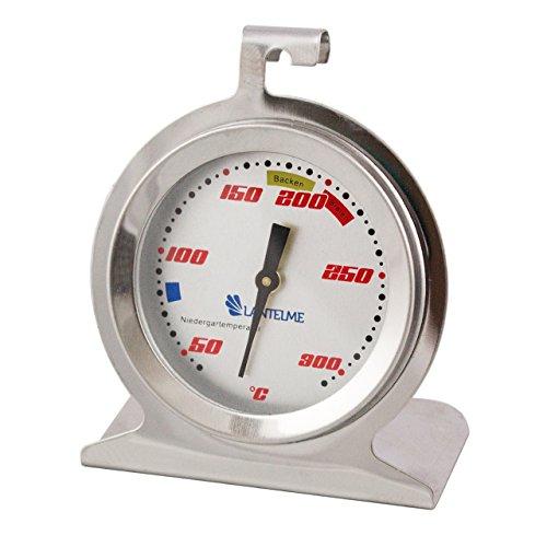 Lantelme Backofen/Ofen Thermometer Temperaturanzeige für Niedergartemperatur und Backen Edelstahl/Analog/Bimetall Modell Racing