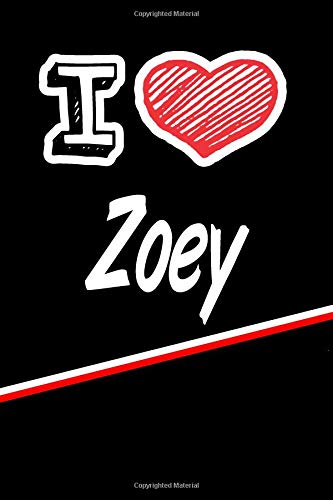 Zoey: I Love Name Writing Journal