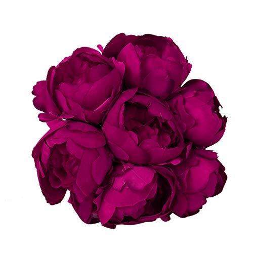 SuperSU Kunstblumen ►▷1 Stück Kunstblumen Künstliche Blumenstrauß/Hochzeitsblumenstrauß/Gefälschte Blumen/Hochzeit Wohnzimmer Hotel DIY Dekoration/Blumenschmuck/kunstpflanzen