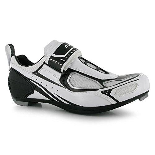 Muddyfox Kinder TRI 100 Junior Radsport Schuhe Rennradschuhe Fahrrad Radfahren White/Black