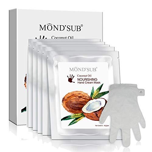 Miglior idratante Hand & Nail Mask Guanti sano olio di cocco idratante per mani secche Full Con Essence Organic idratante e nutriente mano Mask