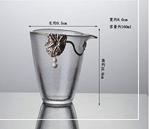 GBCJ Glas Messe Cup Pure Silver Glas Fair Cup Große hitzebeständige Tee Separator Japanisch