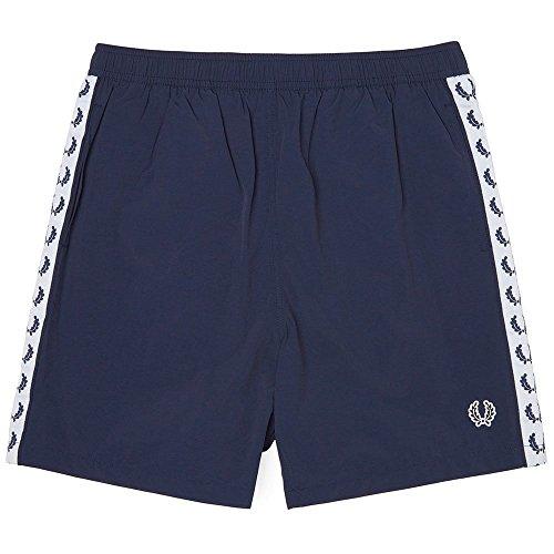 Fred Perry Hombres shorts de baño con cinta XL Azul Marino