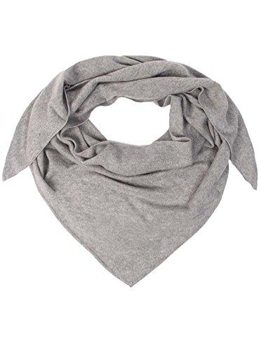 Zwillingsherz Dreieckstuch aus 100% Kaschmir - Hochwertiger Schal im Uni Design für Baby-s Jungen und Mädchen - Cashmere XXL Hals-Tuch und Damenschal - Strick-Waren für Sommer und Winter hgr