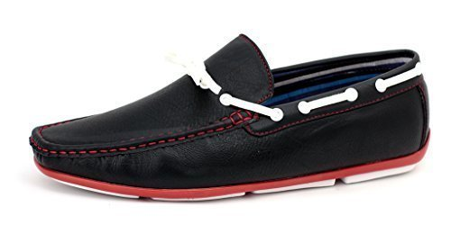 Mens Loafers Slip On Driving Shoes Lace Casual Fashion Sole Moccasin Sizes 6-12 (8, Black)