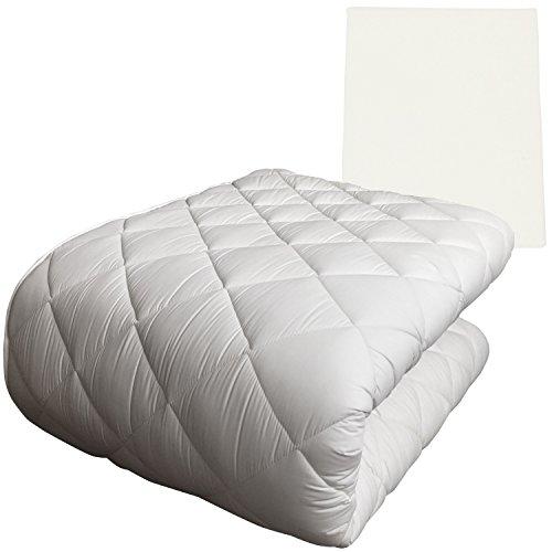 Full-futon-matratze (FULI Japanische traditionelle Shiki Futon Fußmatratze (Shikibuton) Hergestellt in Japan Full XL Futon Mattress & Cover Set (Ivory Milk White))